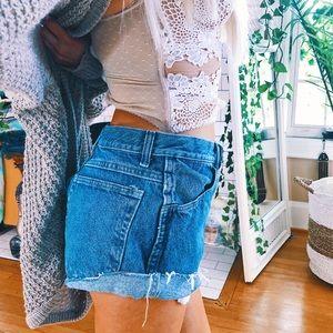 Pants - High Waisted Vintage Denim Shorts ✨ A47